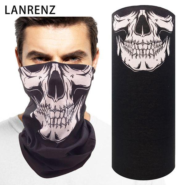 2018 new 3d printing horror skull men's seamless magic scarf multi-purpose dust-resistant tubular headband riding sun face mask