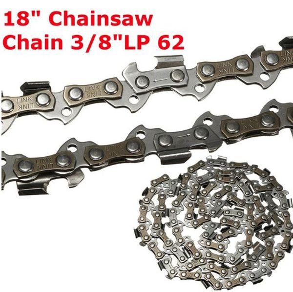 La motosega di ricambio da 18 pollici ha visto la catena da 3/8 di pollice LP .050 calibro 62DL accessorio di collegamento di trasmissione per sega da giardino