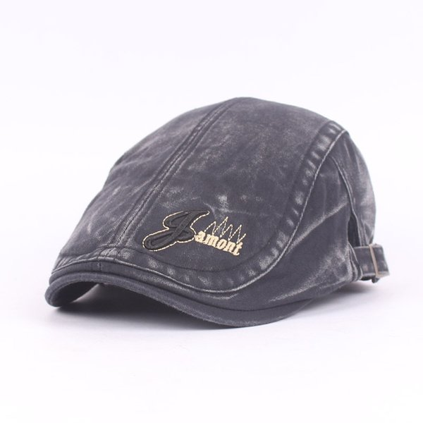 LeucosTicte Sombrero de algodón lavado Sombreros de hombre Sombrero de turismo de otoño e invierno Sombrero británico Retro Cap Boinas de pesca