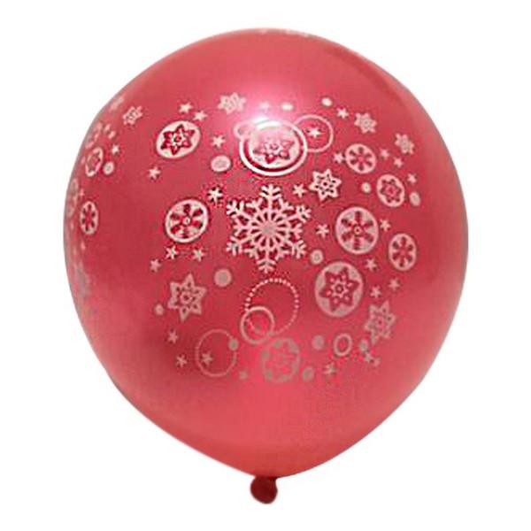 100PCS Holiday Supplies Snowflake Christmas Balloons Carnival Night Decorations Layout Balloon Festive Decorations