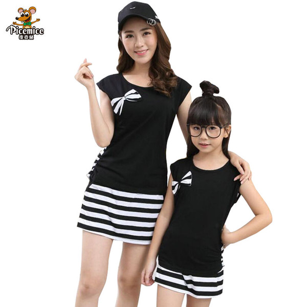 Family Look Mother Daughter Clothes set Family Clothing for Mom and Daughter Cotton Striped Clothes Set Family Matching Outfits