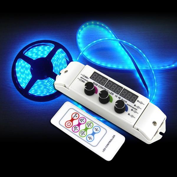 BC-350RF CV RGB Led Controller RF Wireless Remote knob Rotary Switch RGB Strip Dimmer 18A Output for 5050 2835 LED strip lights