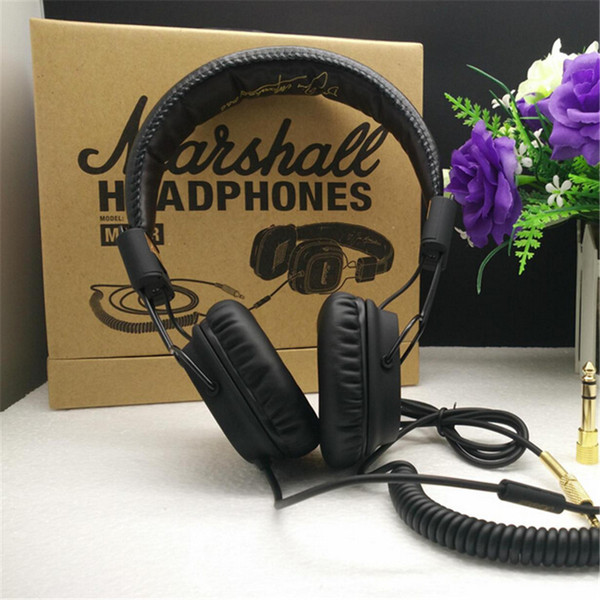 Alta calidad Marshall Major auriculares con micrófono Deep Bass DJ Hi-Fi Headset HiFi Headset DJ Profesional Monitor de auriculares