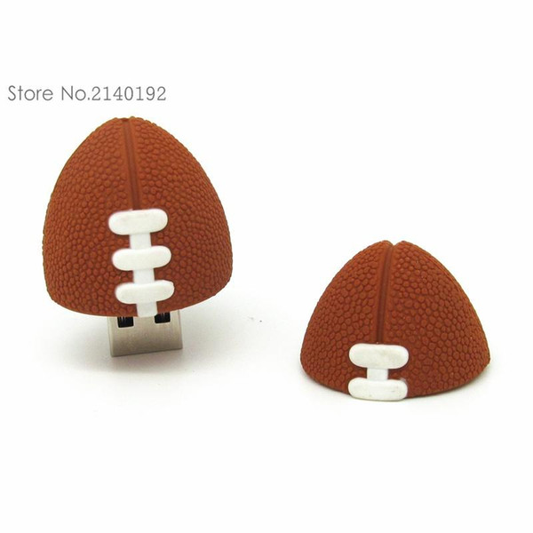 Top sell American Football Pen drive Sports Rugby U Disk 4GB 8GB 16GB 32GB USB Flash Drive Memory Stick Pendrive gift real capacity 108
