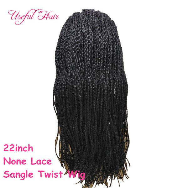 22inchSANGLE TWIST NONE LACE wigs