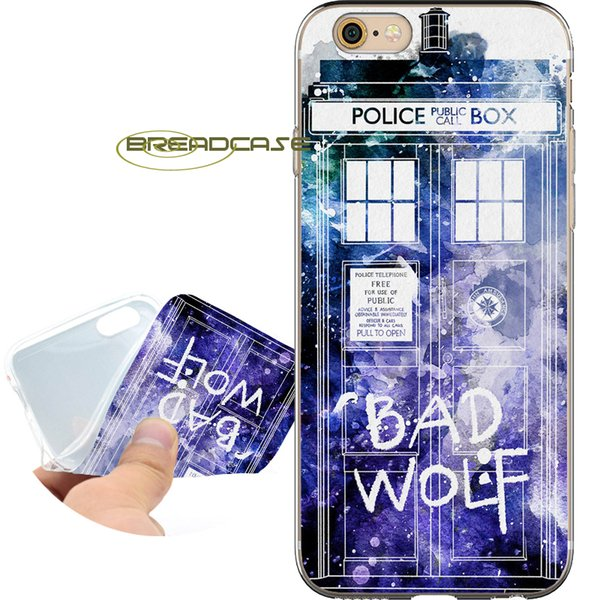 Coque Bad Wolf Doctor Who Shell Cases for iPhone 10 X 7 8 6S 6 Plus 5S 5 SE 5C 4S 4 iPod Touch 6 5 Clear Soft TPU Silicone Cover.