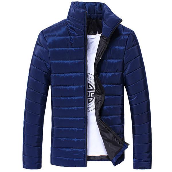 Veste D'hiver Hommes 2018 Mode Cols Mâle Parka Veste Hommes Solide Épais Vestes et Manteaux Homme Hiver Parkas 3XL