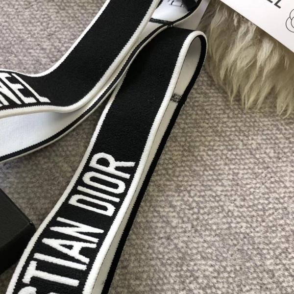 Женщины девушки бренд дизайнер письма повязки эластичный Спорт роскошные повязки известный бренд аксессуары для волос с быстрой доставкой