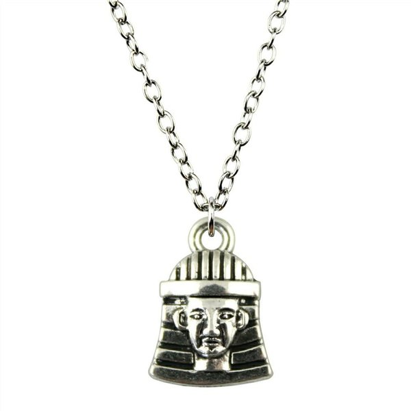 WYSIWYG 5 Pieces Metal Chain Necklaces Pendants Male Necklace Fashion Egyptian Pharaoh 16x11mm N2-B12753