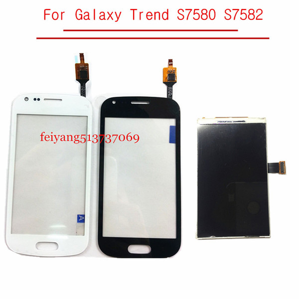 ORIGINAL LCD Touch For Samsung Galaxy S Duos 2 Trend S7580 S7582 Display LCD Screen Digitizer Sensor Glass Lens With Tracking