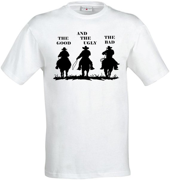 The Good The Bad and The Ugly Western cowboy men (woman available) t shirt white