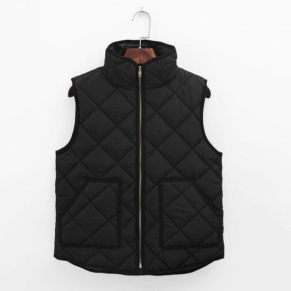 2017 Women Basic Coats Warm Lady Black Pocket Coat Sleeveless Vests Jacket Outwear Waistcoat veste femme plus size XXXL