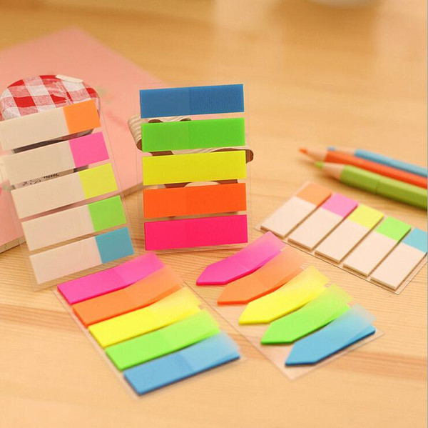 top popular 1 Piece Sticky Post Filofax Memo Pads Office Supplies School Scratch Stationery Rainbow Fluorescence Index Notepad Notes 2020
