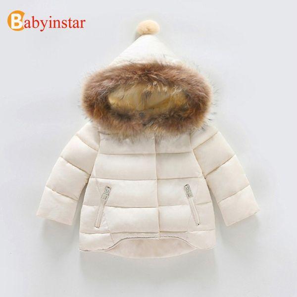 Babyinstar Kids Warm Down&Parkas Coat 2018 New Floral Print Children Girls Snow Wear Ruffles Hooded Jacket Kid Outwear