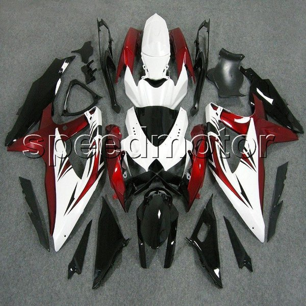 23colors+Gifts Injection mold white red black motorcycle Fairing for Suzuki GSXR600 2008 2009 2010 GSXR750 08 10 09 K8 ABS plastic kit