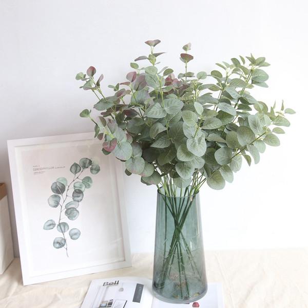 Planta artificial Planta de eucalipto verde Hojas de rama 68 CM Fiesta en el jardín casero Decorativo DIY Planta de pared Ins Fotografía Accesorios