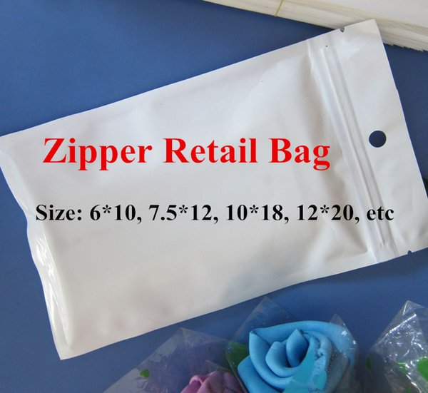 Various Size Plastic Self Seal Zipper Retail Packaging Poly Bag Zip Lock Bags For iPhone 4 5 5c 6 Plus Samsung S5 S4 Note 2 3 iPad Mini Case