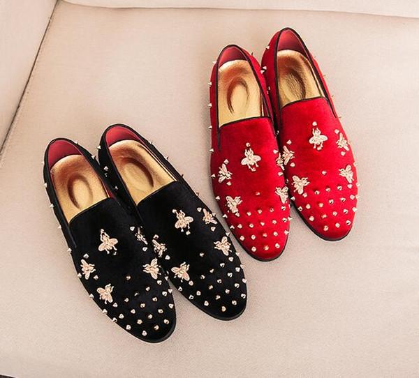 New arrives mens shoes Dress shoes mens loafers stylist corduroy metal apis florea Rivets designer shoes men luxury loafers 145