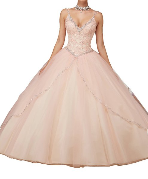 Quinceanera Dresses Deep V collar, double shoulder, Lace Applique, skirt, multi net, fluffy dress, tailored dress, custom mailing.