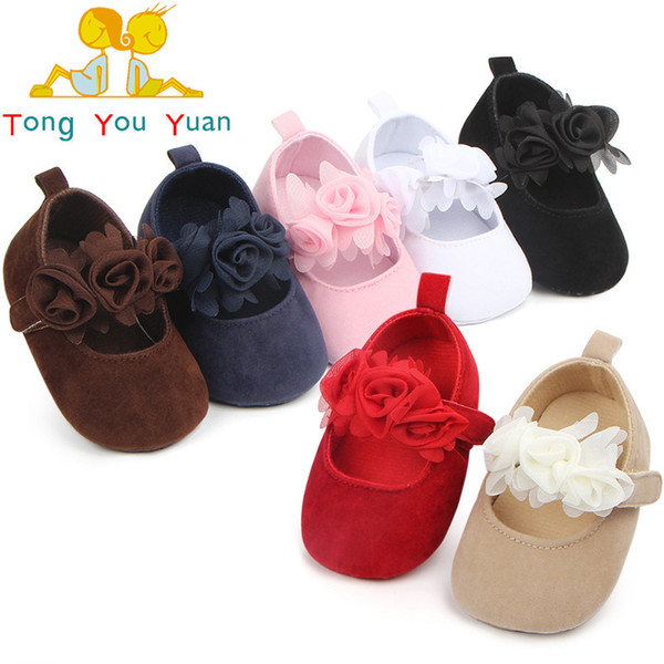 Quality child baby girl shoes cute flower soft bottom princess first walkers Free Ship Factory Price Sale Wholesale Order 3 Pairs Or More