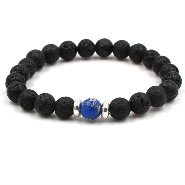 10 color Lava Rock beaded chain bracelets Essential Oil Diffuser Chakra Crafts Stone Bangle For women&men s Fashion Jewelry