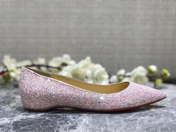 2018 new Wholesale-Fashion bride rhinestone crystal dimaond glitters high heeled party prom red bottom pumps sexy gold heels wedding shoes