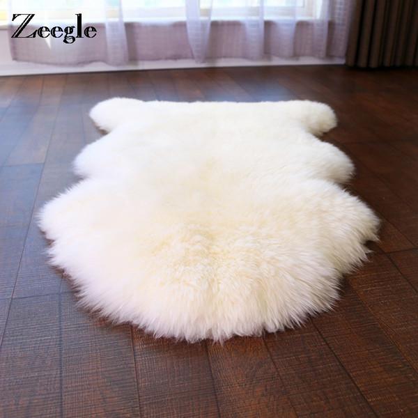 Zeegle lanudo de imitación de piel de oveja de la alfombra para la sala felpa sofá de la silla de la cubierta estera del piso Decoración Dormitorio de noche Alfombras
