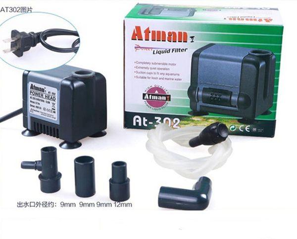 best selling Atman AT-302 6.5W 450L H Aquarium Fish Tank Water Pump Poweheader Submersible Pump Liquid Filter Various Outlet Connectors