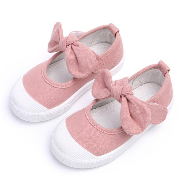 Children Shoes Girls Canvas Fashion Bowknot Comfortable Kids Casual Shoes Sneakers Toddler Girls Princess Shoes Free Shipping
