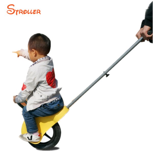 Single Wheel Kids Strollers Parent Handle Pneumatic Tyre Unicycle for Child 2-5 Portable Trolley Scooter Outdoor Fun Toys Gift