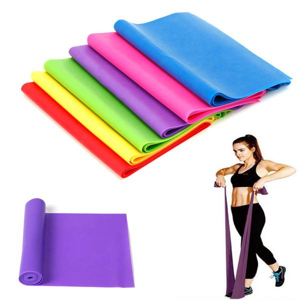 VENTE CHAUDE 1.2M Élastique Yoga Pilates En Caoutchouc Stretch Bande D'exercice Bras Jambe Dos Fitness de Haute Qualité