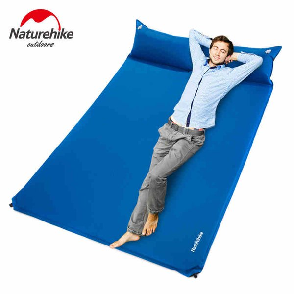 NatureHike Double Person Automatic Inflatable Pad Sleeping Mat With Pillow Ultralight Portable Cushion For Camping Traveling