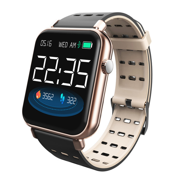 Inteligente pulsera reloj de pulsera de fitness Mensaje del ritmo cardíaco de la presión arterial de oxígeno de la sangre