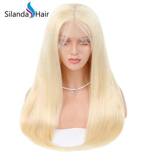 Silanda Hair Premium Affordable Price #613 Blonde Straight Brazilian Remy Human Hair Full Lace Lace Front Wigs For Women Free Shipping