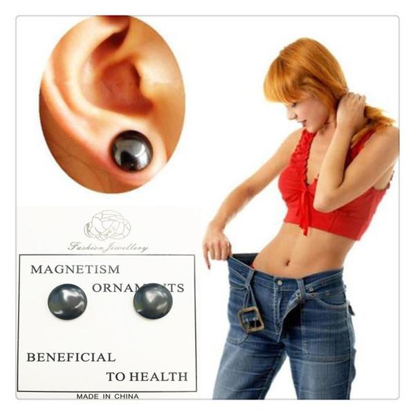 Massage Minceur Boucles D'oreilles Magnétiques Moxibustion Boucles D'oreilles Goujons Aimants Aimant Contrôle De L'appétit Perte De Poids Stud Outils de Santé de Haute Qualité