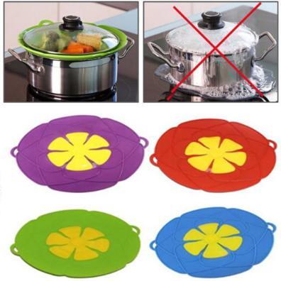 4 Renkler 26 cm Dökülme Stoper Kapak Koruyucu Üzerinde Kaynatın Silikon Kapak Pişirme Pot Çiçek Tencere Mutfak Alet CCA10564 20 adet