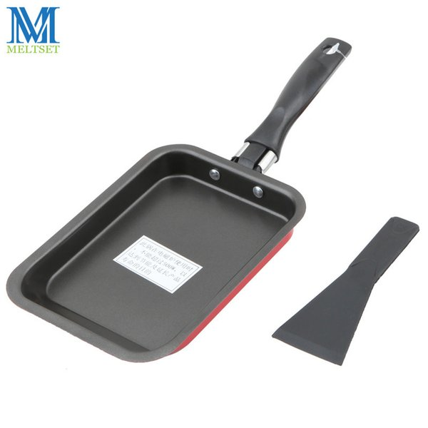 Smoke-Free Carbon Steel Fry Pan Non Stick Skillet Omelet Pan Rectangular Cooking Pan for Gas Induction Kitchen Tools Supplies