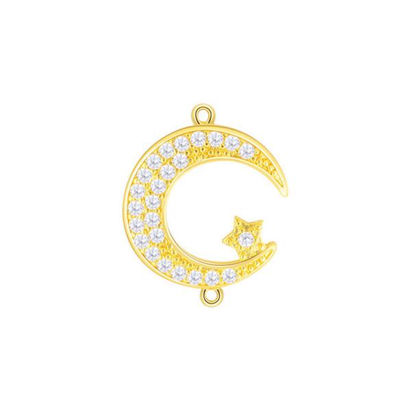 Wholesale Crystal Rhinestones Circle Karma Infinity Connectors DIY Bracelet Earrings Findings Loop Round Connectors Fiting Jewelry Making