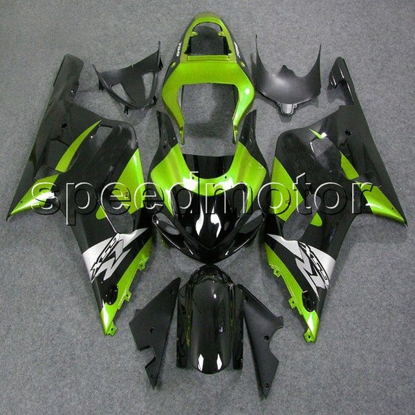 23colors+Gifts green black 01 02 03 GSX-R600 R750 K1 motorcycle cowl Fairing for Suzuki GSXR600/750 2001 2002 2003 ABS plastic kit