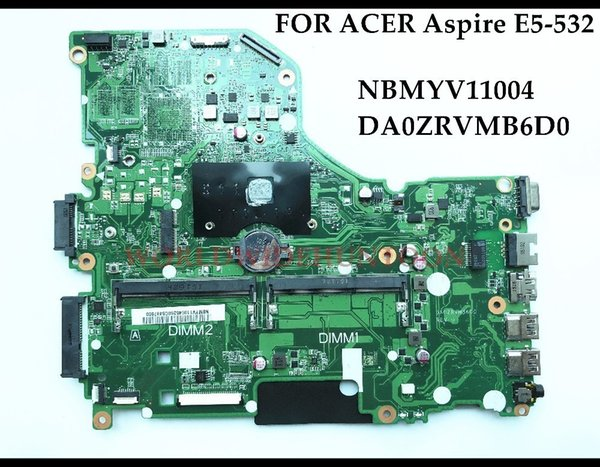 High quality NBMYV11004 for ACER Aspire E5-532 Laptop Motherboard DA0ZRVMB6D0 N3050 CPU DDR3L 100% Fully Tested