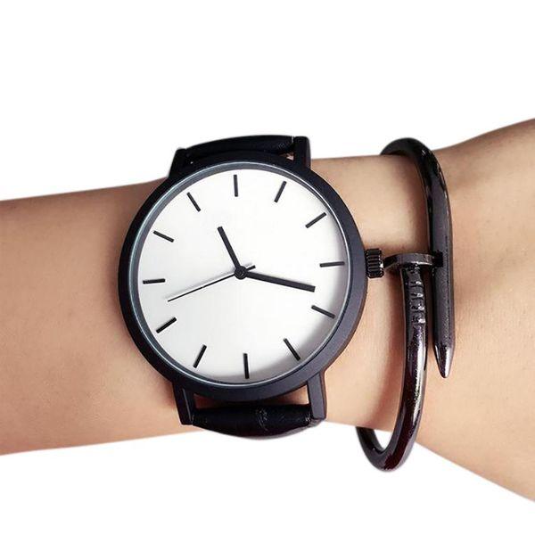 2018 novo e elegante mulheres homens amante do casual simples diária de quartzo analógico relógio para mulheres banda relógios de pulso saat bayan presentes f65