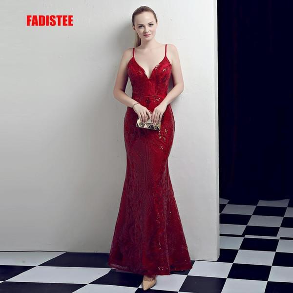 FADISTEE Automne Nouvelle arrivée parti robes de soirée modèle paillettes de dentelle Robe de Festa bal parti Robe De Soiree longue sirène Banquet