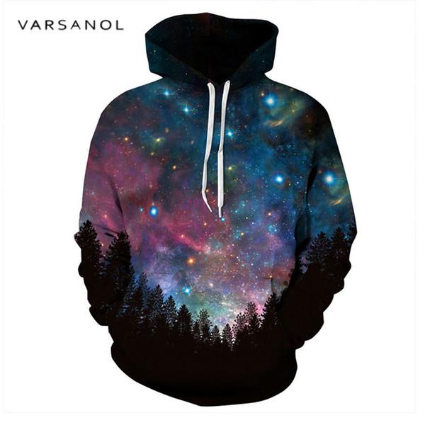Varsanol Space Galaxy 3d Sudaderas Hombres / Mujeres Sudaderas Con Sombrero Estampado Estrellas Otoño Sudadera Con Capucha Sudadera Con Capucha Tops Capucha Outwear L18101002