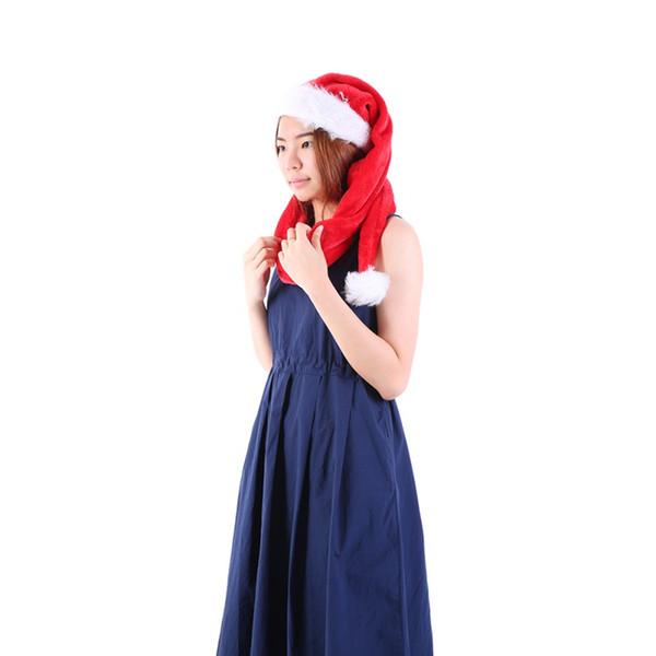Super Long Adult Plush Christmas Hat Party Santa Claus Plush Cap Props Supplies