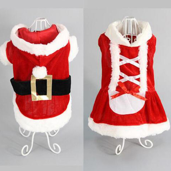 5 Größe Hund Kostüm Weihnachten Hund verwandelt Kleid Santa Anzug klassischen Euramerican Haustier Hund Weihnachten Kleidung Haustiere Bekleidung Großhandel
