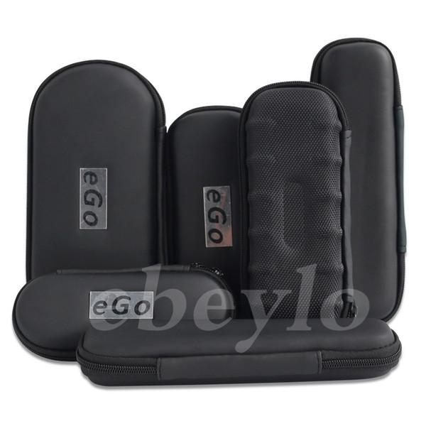 top popular New Ego Zipper Case Electronic Cigarette Zipper E Cig Cases For Ego Evod CE4 CE5 MT3 Protank Starter Kit Top Quality 9 Designs 2020