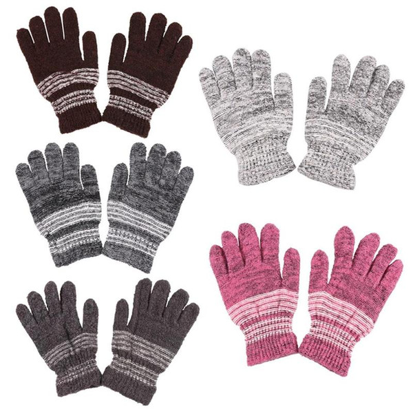2018 Fashion Women Winter Gloves Warm Mittens Cashmere Knitted Thicken Female Full Finger Winter Gloves Girl Female guantes