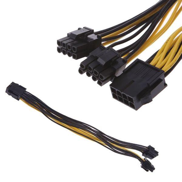 PCI-E PCIE 8p Female to 2 Port Dual 8pin 6+2p Male GPU Graphics Power Cable USA