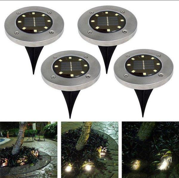 8 LED Energia Solar Enterrado Luz Sob A Luz Do Chão Caminho Caminho Ao Ar Livre Decoração Da Casa de Jardim OOA4250