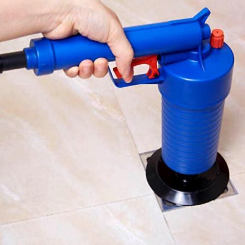 Bathroom Kitchen Pipe Gun Type Toilet Drain Cleaner Blaster Pump Plunger Sink Pipe Clog Remover Toilets Cleaner Tool Toilet Drain Cleaner